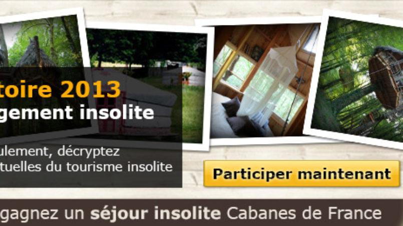 Participez à l'Observatoire 2013 de l'hébergement insolite en France et gagnez un séjour insolite