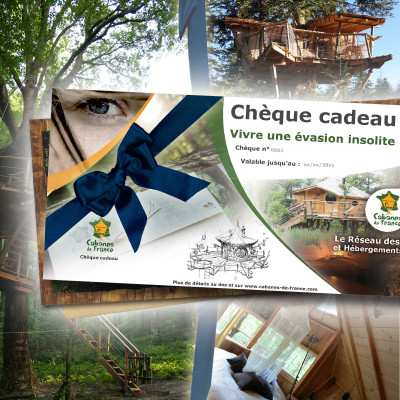 Chèque cadeau Découverte -Box Cabanes dans les arbres