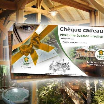 Chèque Cadeau Universel - Cadeau Cabanes de luxe