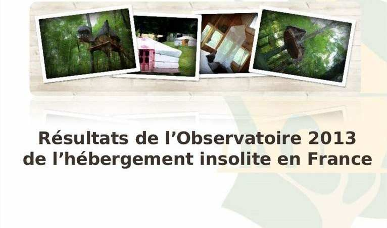 Résultats de l'Observatoire 2013 de l'hébergement insolite en France