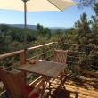 Terrasse avec vue depuis votre cabane