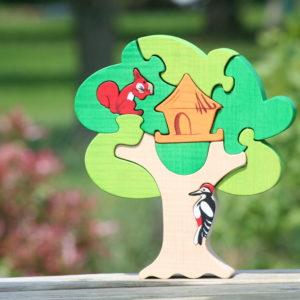 Puzzle en bois Cabane dans les arbres
