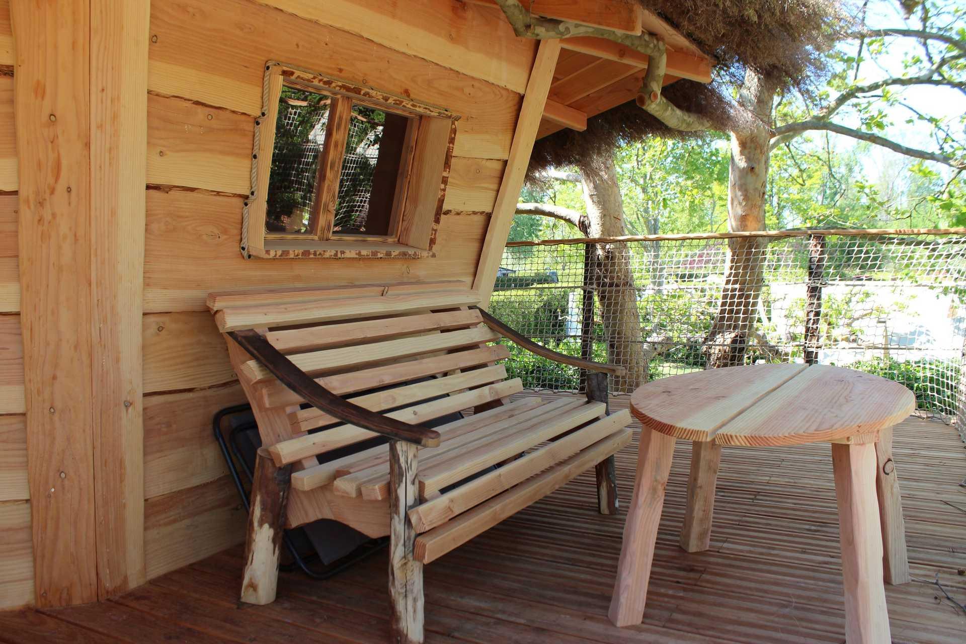 cabane de pan camping la sorguette cabane sur pilotis en provence alpes c te d 39 azur. Black Bedroom Furniture Sets. Home Design Ideas