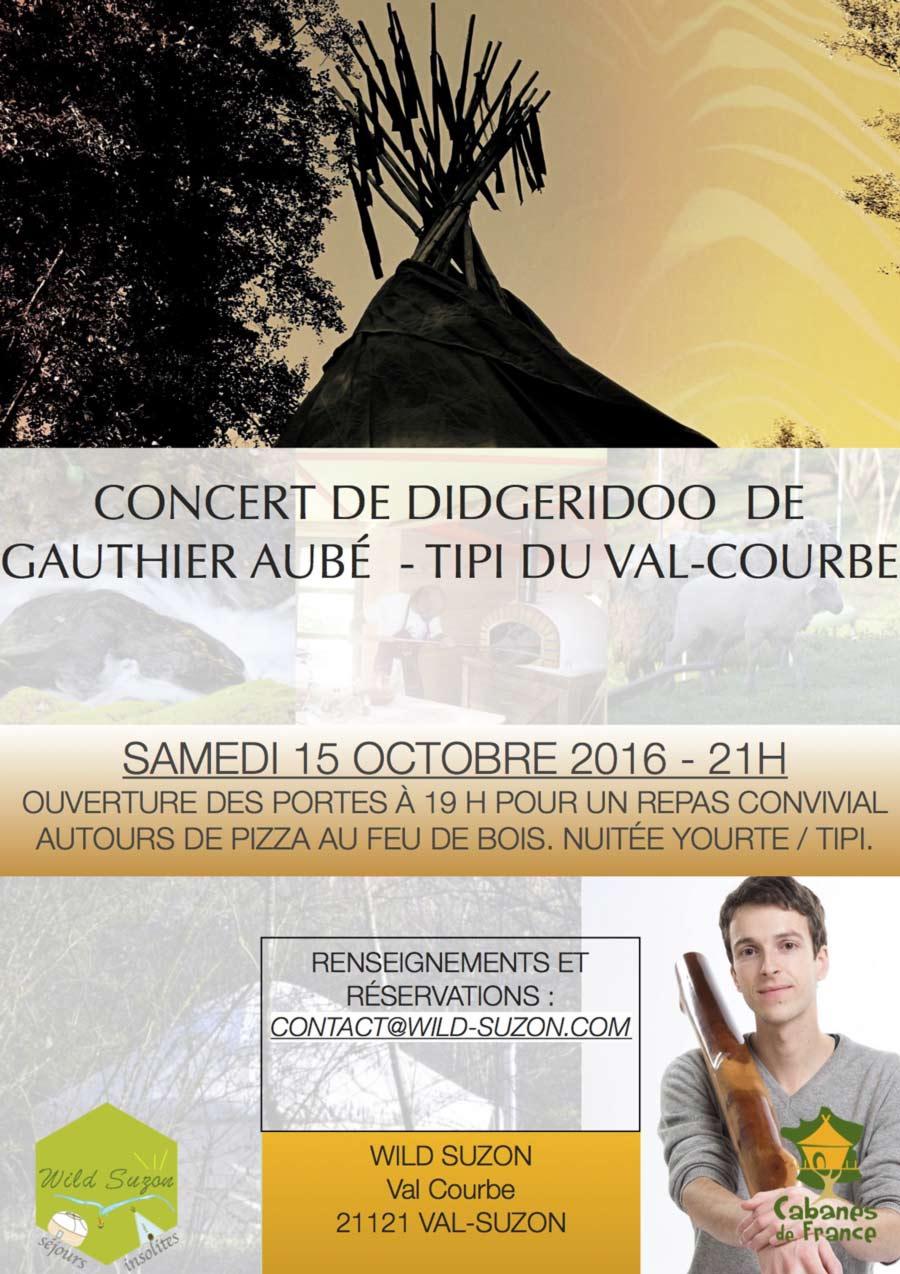 Concert Didgeridoo au Val Courbe