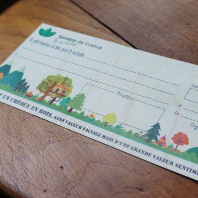 Chèque en Bois