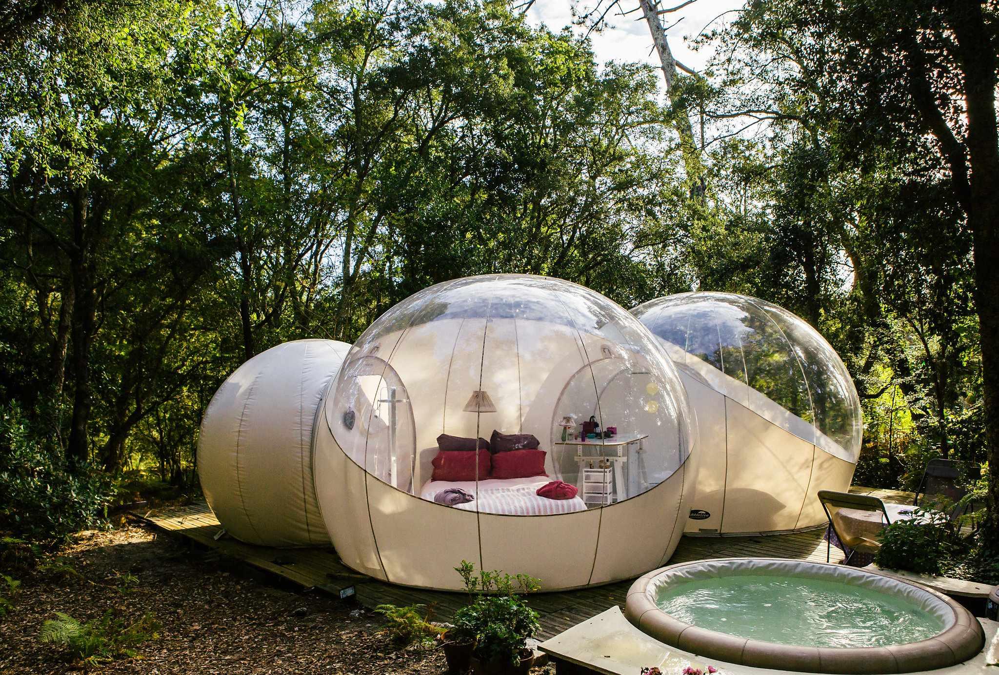 bulle bubulle lo rey du lac bulle transparente en aquitaine cabanes de france. Black Bedroom Furniture Sets. Home Design Ideas