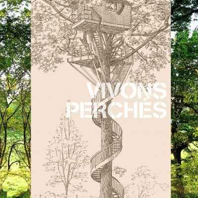 Couverture Vivons perchés - Livre cabanes dans les arbres