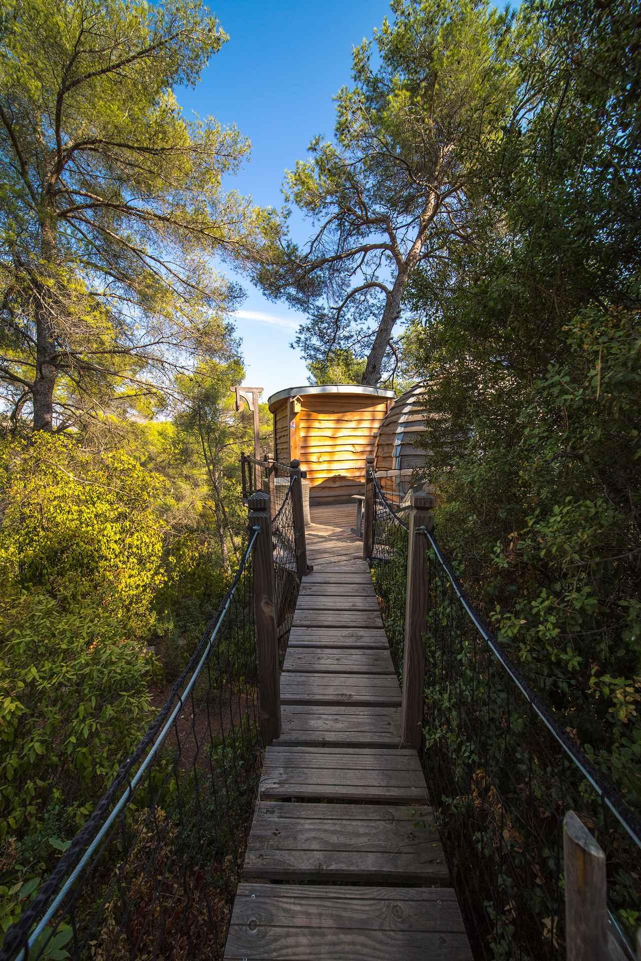 lov nid a fleur de bois cabane dans les arbres en provence alpes c te d 39 azur cabanes de france. Black Bedroom Furniture Sets. Home Design Ideas