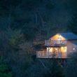 France, Morbihan (56), Quistinic, hébergement de la Vallée de Pratmeur, cabane dans les arbres