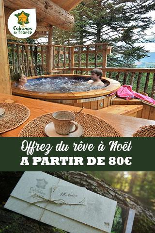 Offrez un séjour insolite avec les chèques cadeaux Cabanes de France